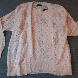 Eddie Dassin Vintage Cottagecore Sweater 2pc Set